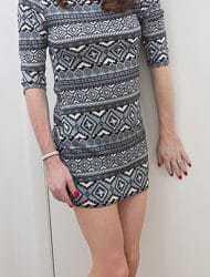 Aztec print Scuba dress