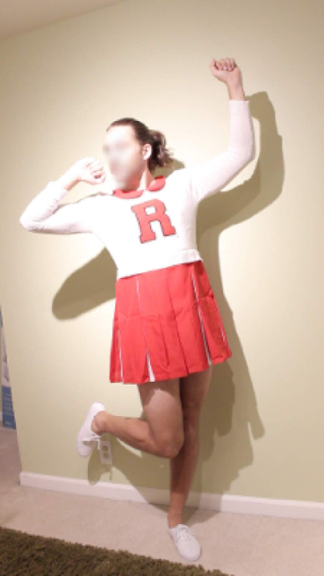 Cheerleader crossdresser