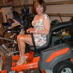 Ready To Glam It Up While Mowing The Yard