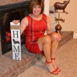 I Thought I Would Glam It Up With A Red Dress And Some Red High Heels!