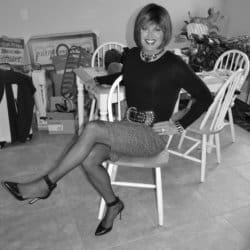 Me In My Newest Pencil Skirt In Black and White!