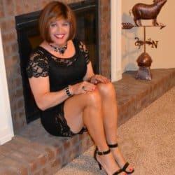Scarlett Loves Black Lace Dresses!