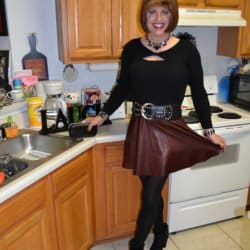 This was my very first leather skirt!