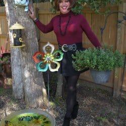 Hey Look! Scarlett's Outside In Her Backyard!