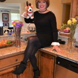 Scarlett Loves Long Sleeved Black Wool Dresses!