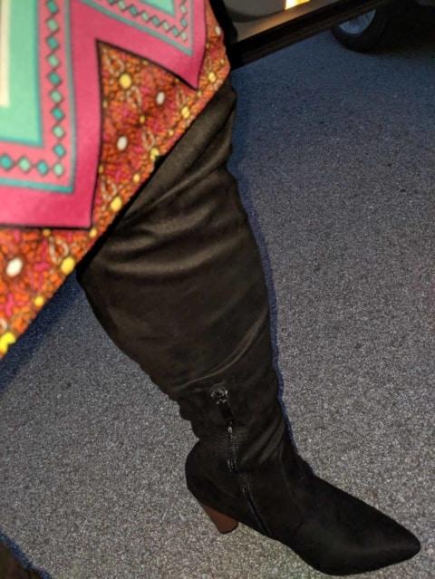 New thigh high boots