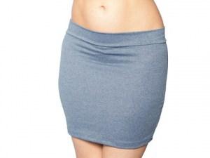 Stretch Denim Mini Skirt
