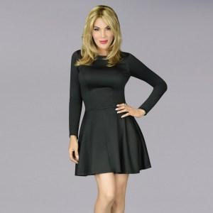 The En Femme Party Swing Dress In Black Doubleknit